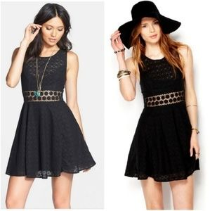 NWT Free People | black crochet daisy dress